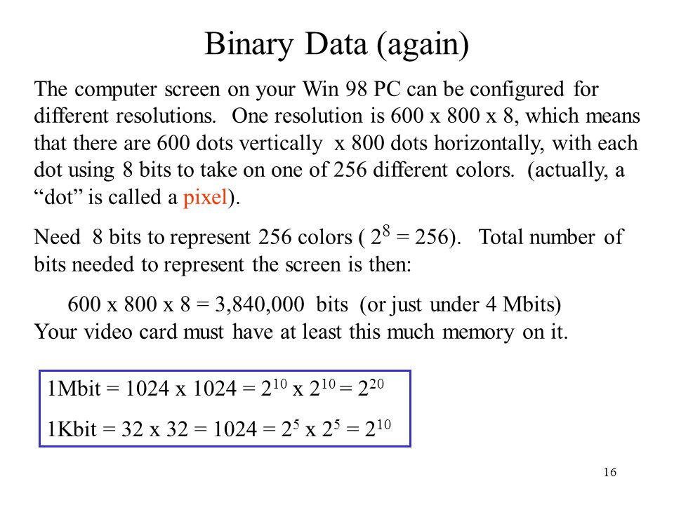 Binary Data (again)