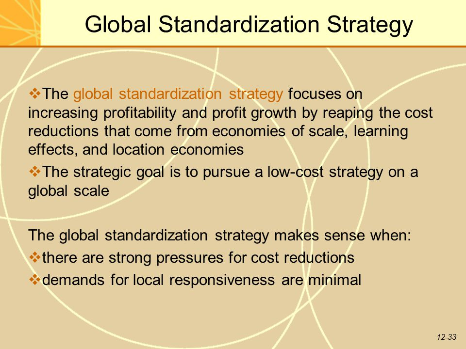 Global Standardization Strategy