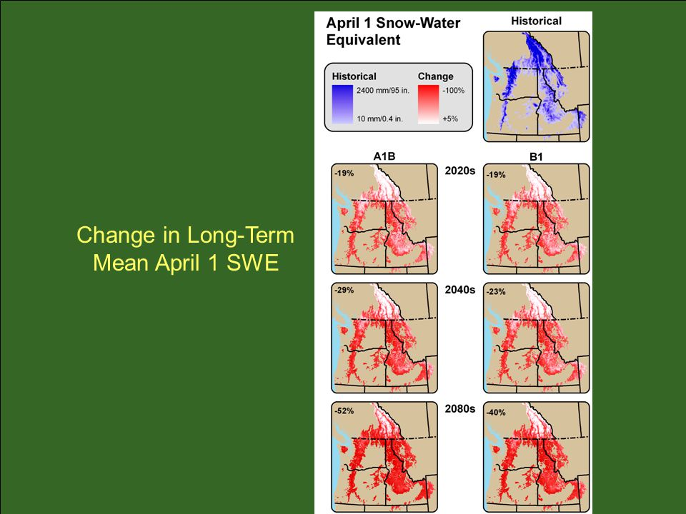 Change in Long-Term Mean April 1 SWE