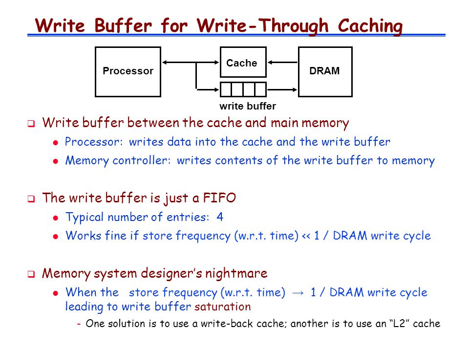 Write Buffer for Write-Through Caching