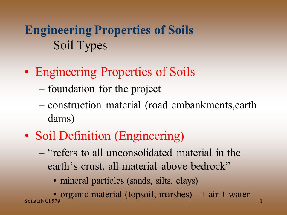 Engineering properties of soils soil types ppt download for Mineral soil definition