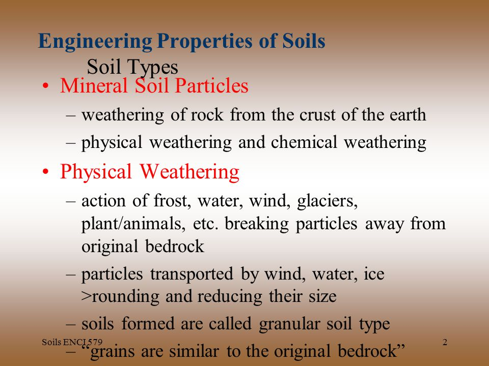 Engineering properties of soils soil types ppt download for Physical and chemical properties of soil wikipedia
