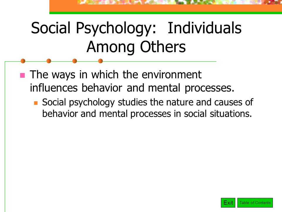 environment and the psychology of behavior Environmental psychology is the interdisciplinary study that examines how surrounding habitats and environments affect human behavior most degree programs in environmental psychology are at the .