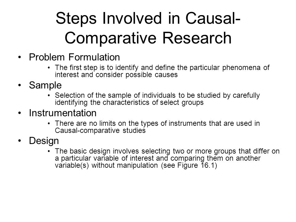 Rules of Comparative Research