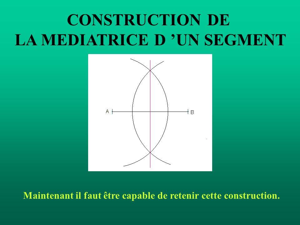 CONSTRUCTION DE LA MEDIATRICE D 'UN SEGMENT