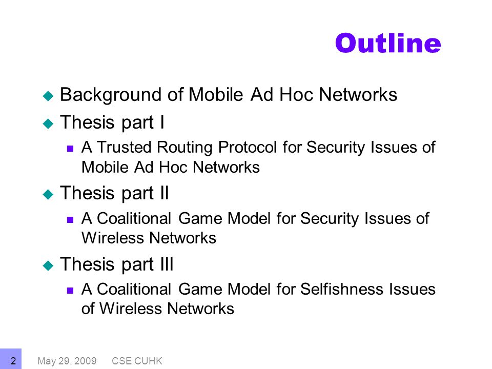 adhoc network thesis