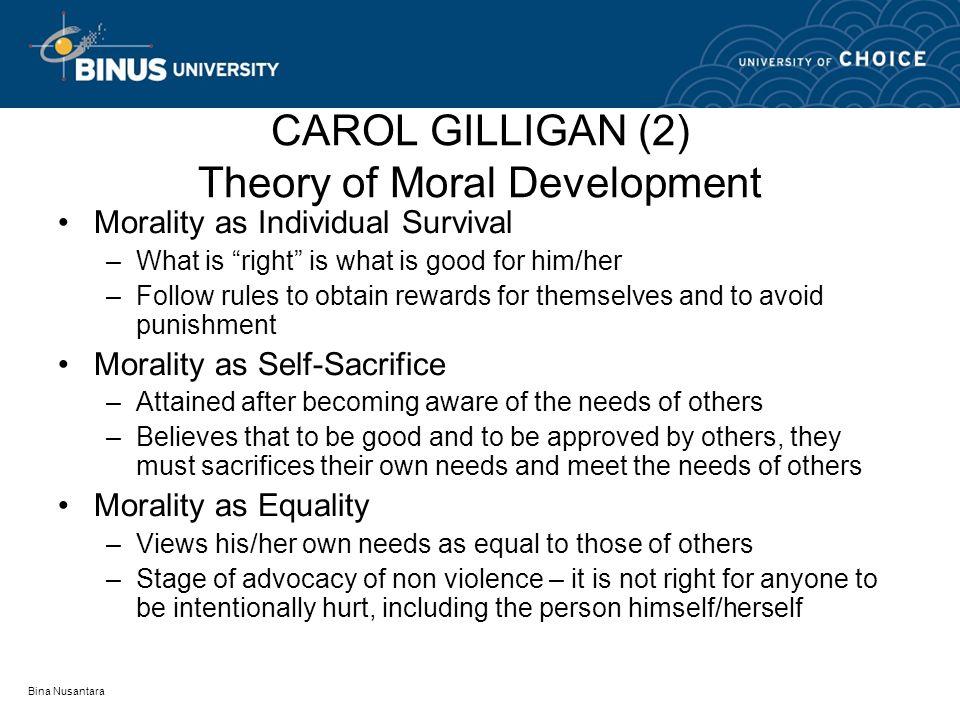 carol gilligan on moral development essay Piaget, kohlberg, gilligan gender and moral development and therefore deficient sense of moral understanding carol gilligan.