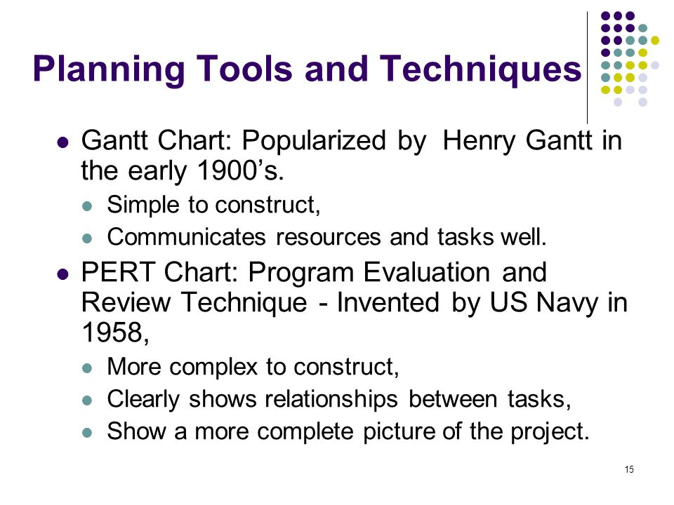 project planning tools and techniques pdf