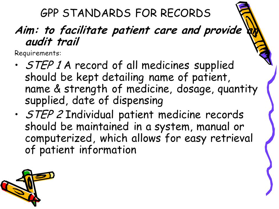 GPP STANDARDS FOR RECORDS