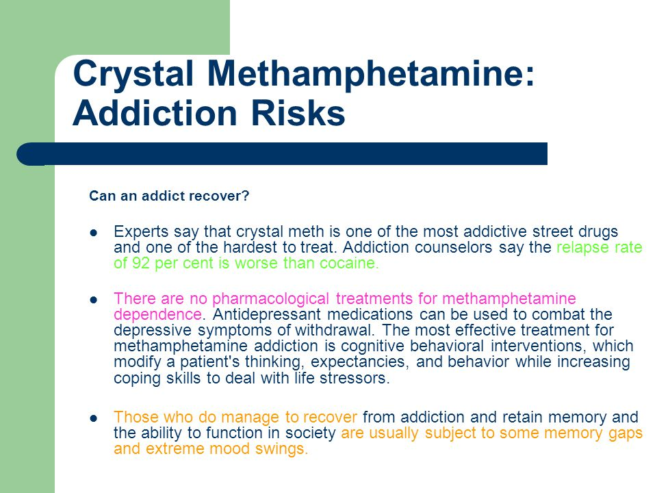 Crystal Methamphetamine: Questions Answered - ppt video ...
