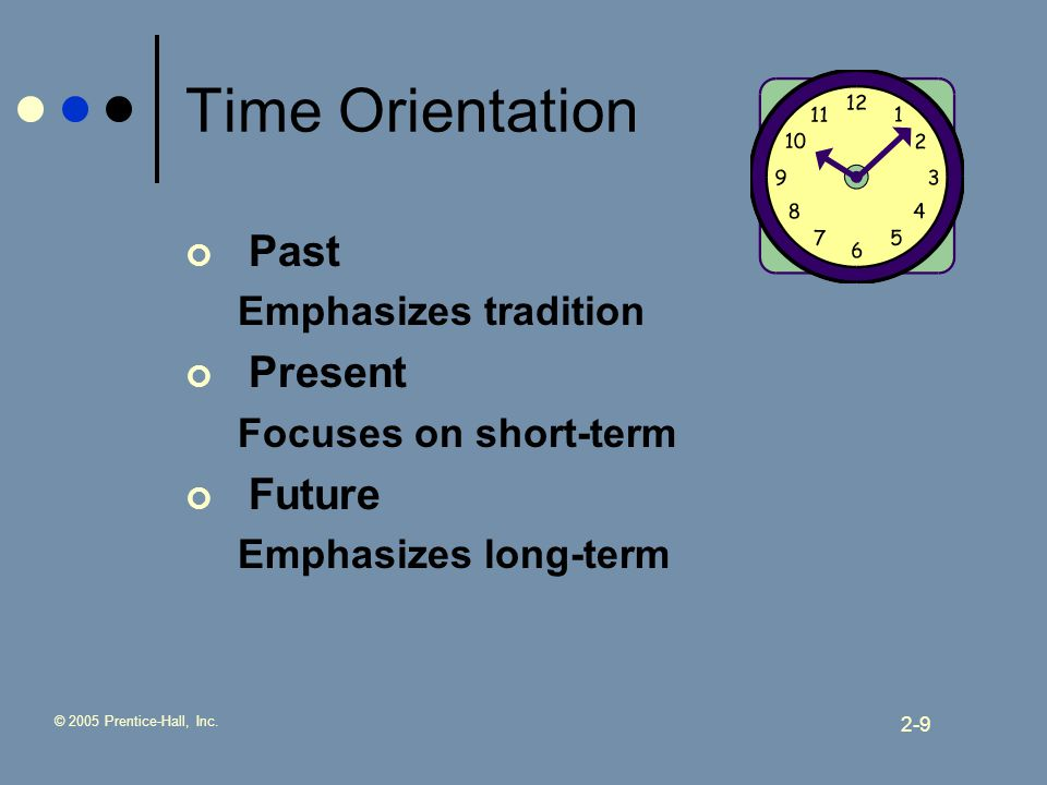 """time orientation Time orientation is also mentioned in this article the author explains """"clients are at times asked to confirm a meeting, even after it is fixed"""" great tip—cause the chances of it changing, happening on another day, or just plain being off the radar of the indian group are very high."""