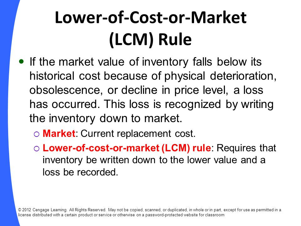 Lower-of-Cost-or-Market (LCM) Rule