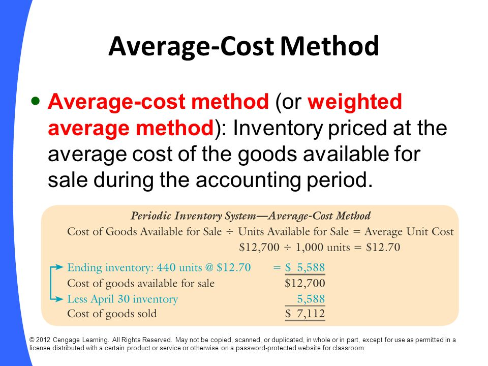 Average-Cost Method
