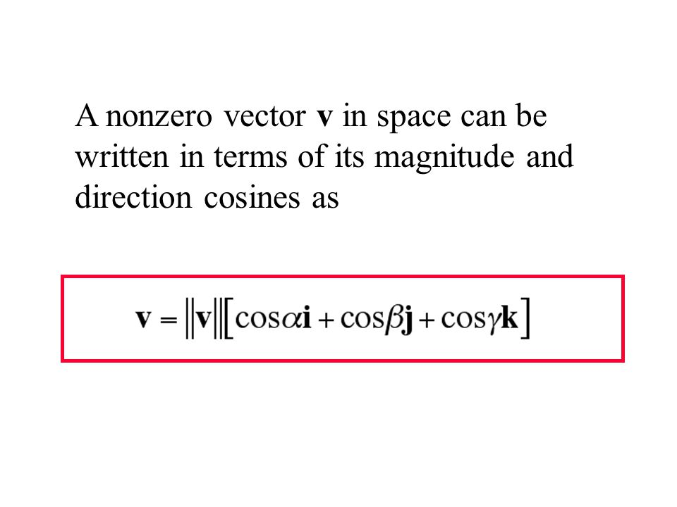 how to find direction cosines of a vector