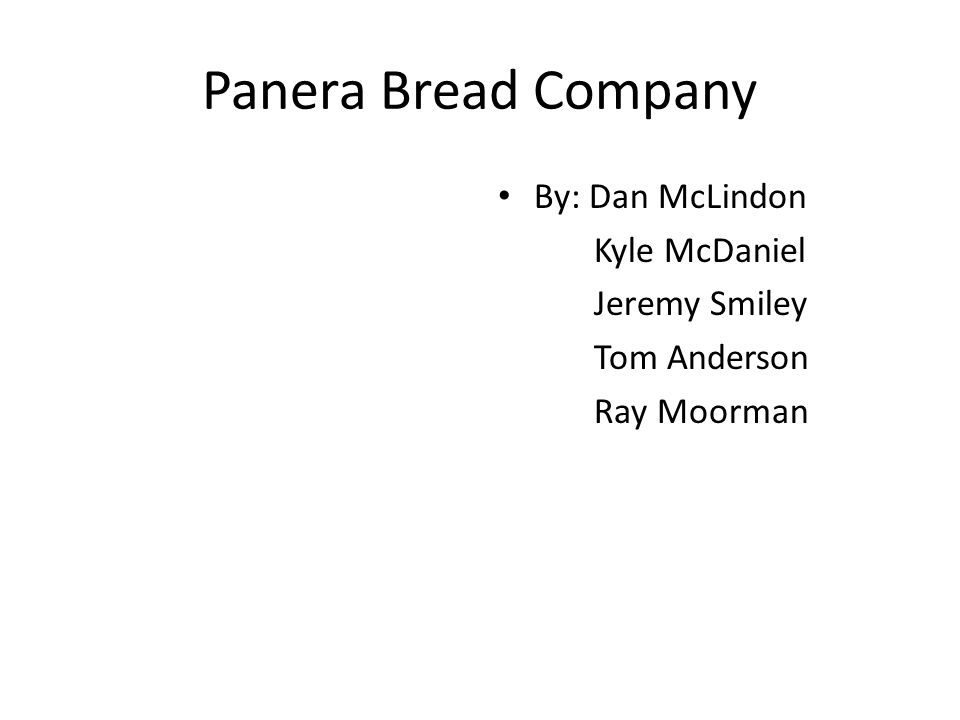 panera bread financial analysis Swot analysis panera bread co financial analysis panera bread co year 2007 2008 2009 2010 2011 net income.