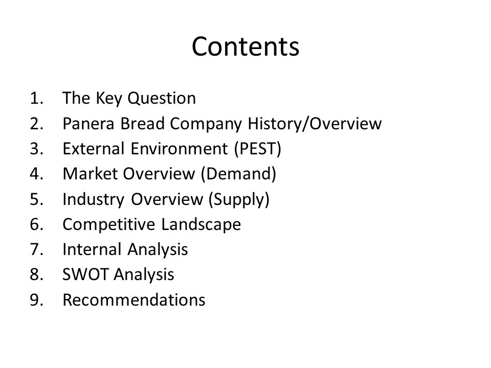 panera bread swot essay example (panera bread co, 2013) company overview au bon pain company founded1978 in boston, massachusetts purchased saint louis bread company in 1993 sold au bon pain division in 1999 changed company name to panera bread company the panera bread company's name is derived from the words: pan which means bread in spanish and italian.