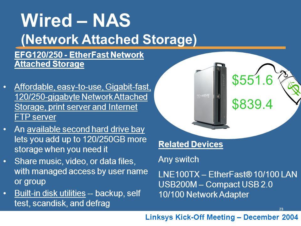 Wired – NAS (Network Attached Storage)
