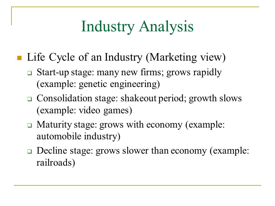 Wonderful Industry Analysis Example To Industry Analysis Example