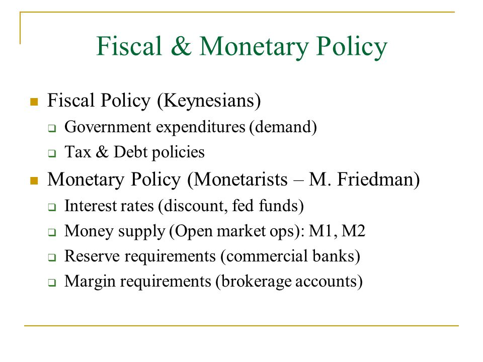 strengths and weaknesses of monetary policies and fiscal policies Fiscal policy fiscal policy is government spending, taxation and its economic impact  monetary policy  current strengths and weaknesses in the us economy .