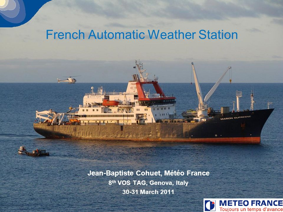 French Automatic Weather Station