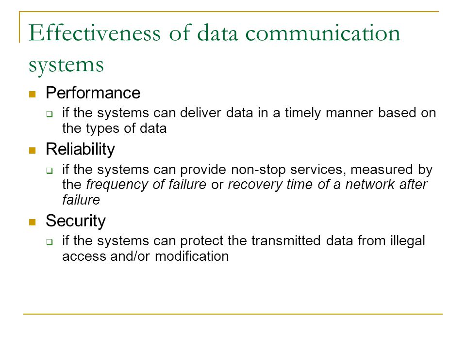 Data Communication System : Introduction dr john sum institute of electronic commerce