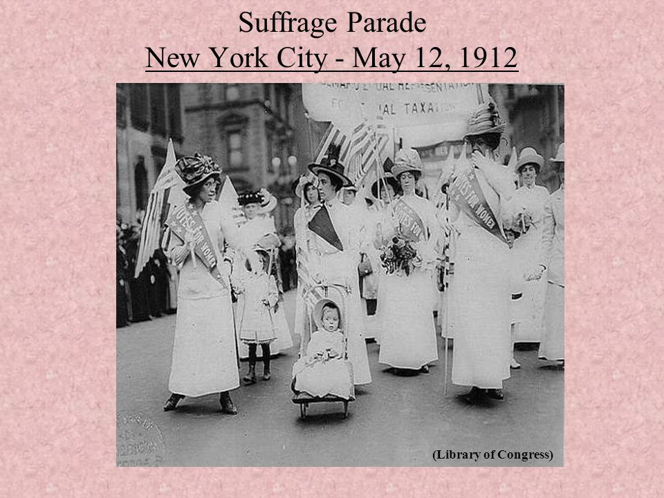 Suffrage Parade New York City - May 12, 1912