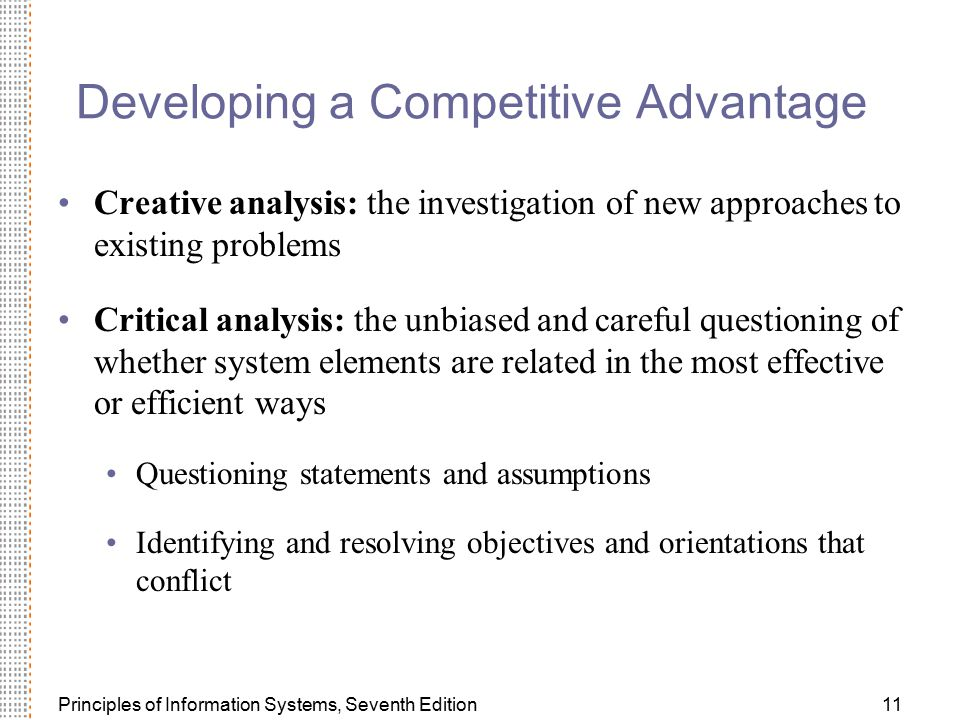 Developing a Competitive Advantage