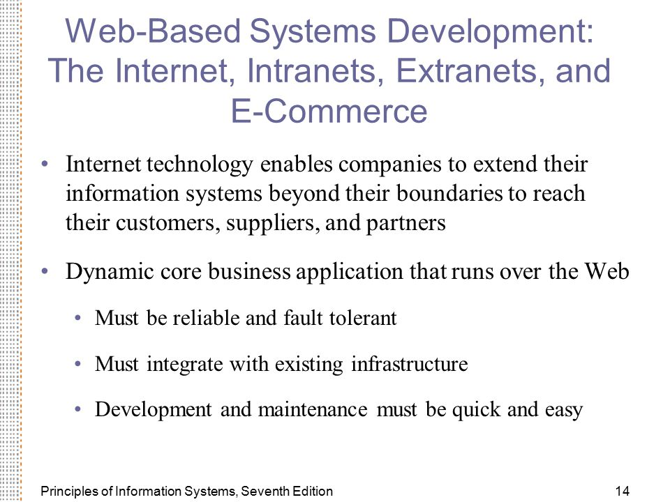 Web-Based Systems Development: The Internet, Intranets, Extranets, and E-Commerce