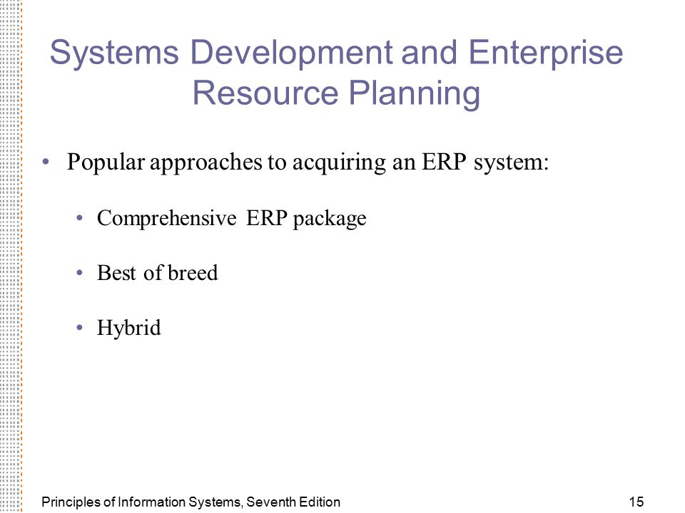 Systems Development and Enterprise Resource Planning
