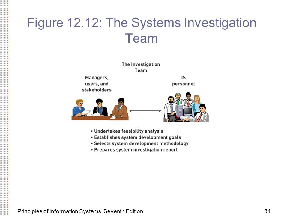 Figure 12.12: The Systems Investigation Team