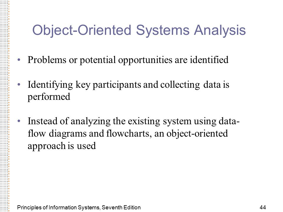 Object-Oriented Systems Analysis