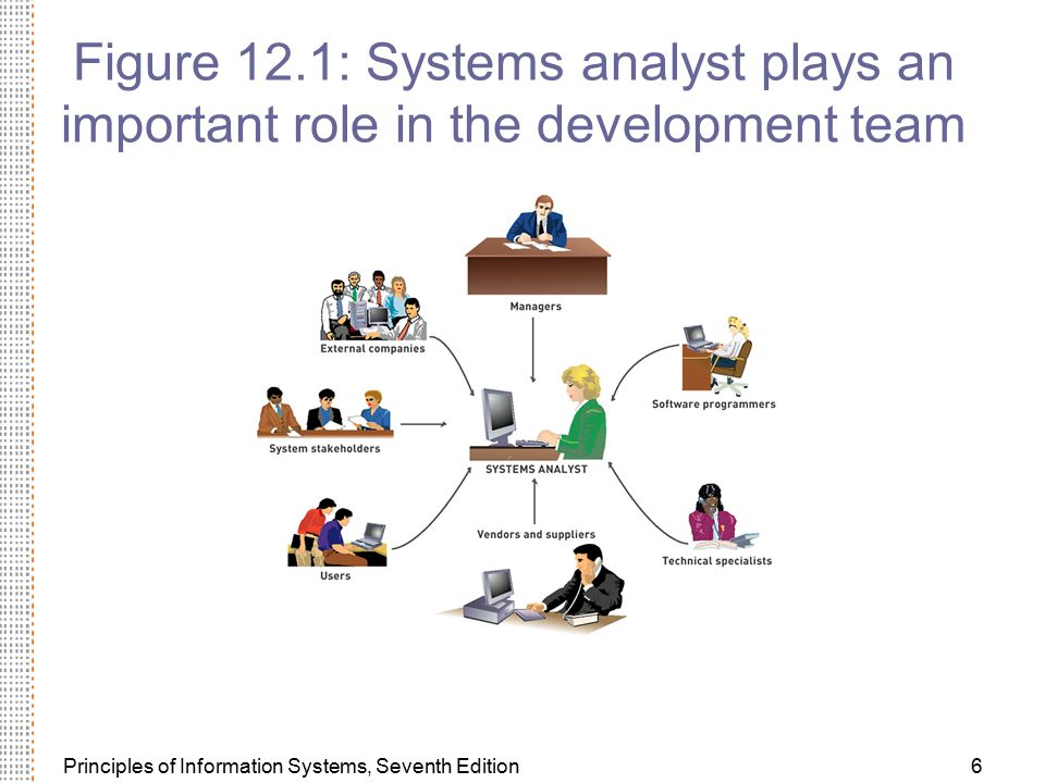 Figure 12.1: Systems analyst plays an important role in the development team