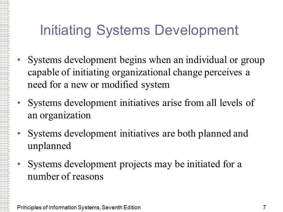 Initiating Systems Development