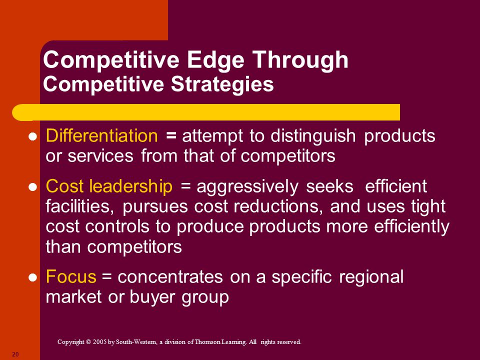 Competitive Edge Through Competitive Strategies