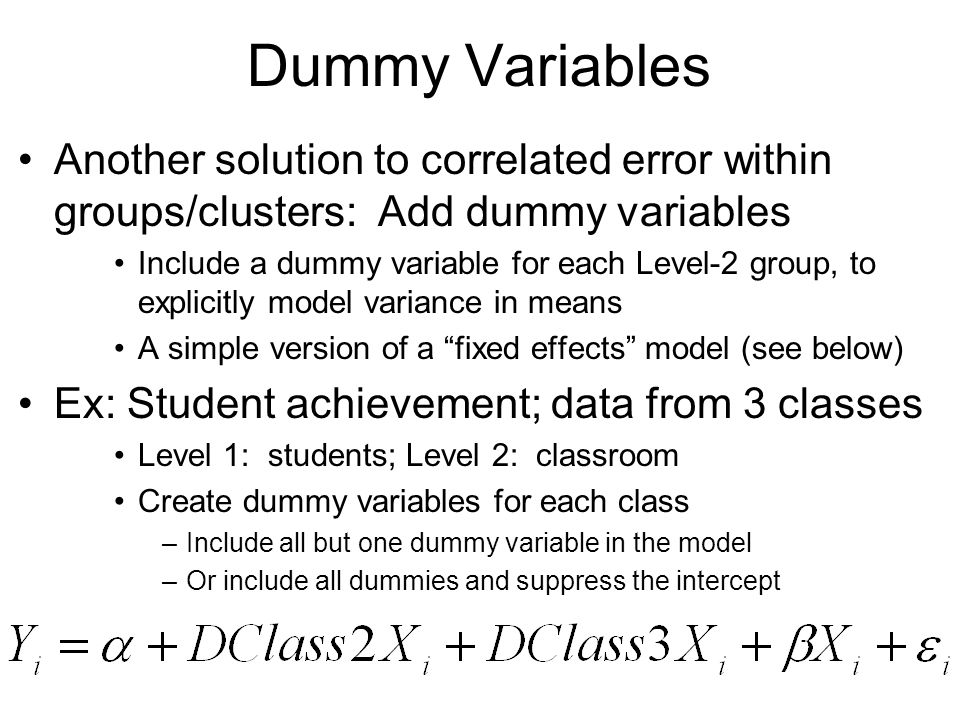 dummy variables Pol242 lab manual: exercise 9b regressions with dummy variables and interaction terms part 1: dummy variables purpose to learn how to create dummy variables and interpret their effects in multiple regression analysis.