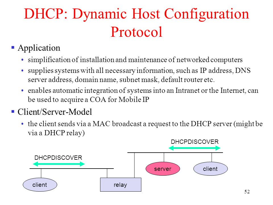 dynamic host configuration protocol dhcp Lesson 3 - dynamic host configuration protocol (dhcp) in this lesson, students  will learn how the raspberry pi can be used to demonstrate dynamic host.