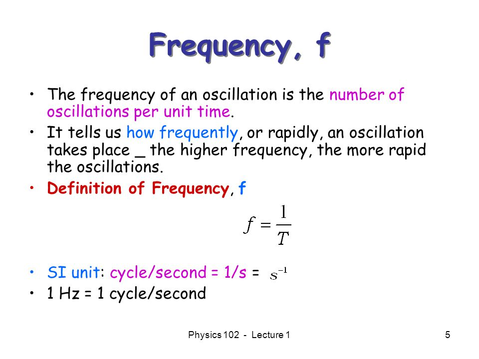 how to find frequency physics