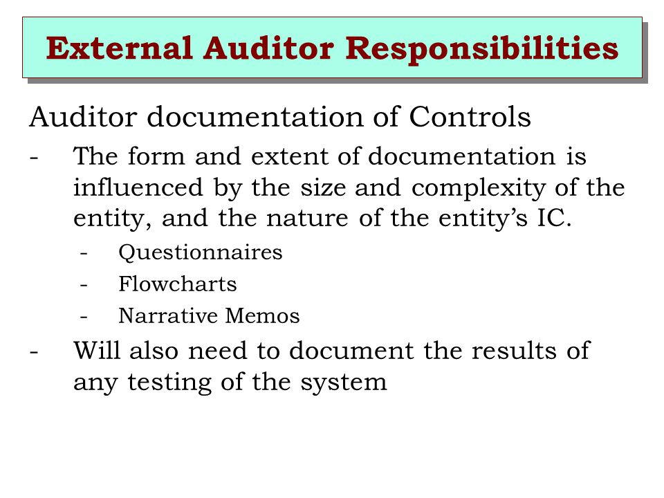 responsibilities of external auditor to shareholder The role of external auditor in corporate governance print  there is a growing concern for corporate governance globally as there is increased reliance by the stockholders and shareholders on external auditors  company's annual reports should disclose detailed information on the role and responsibilities of their audit committee.