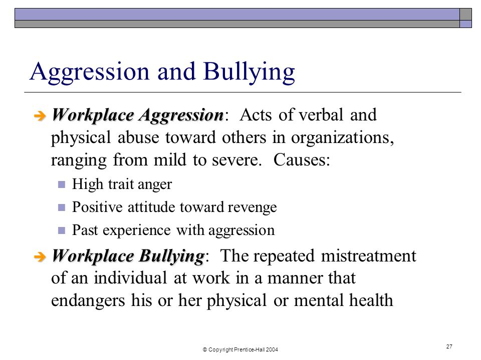workplace agression 8 ways to deal with passive-aggressive employees these workplace behaviors passive aggression, bullying, sociopathic tendencies will all become problematic if leaders allow the behaviors of individuals to become more important than the team, bandirma says.