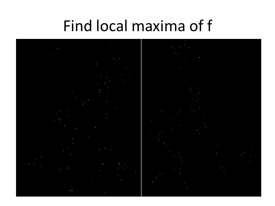 Find local maxima of f