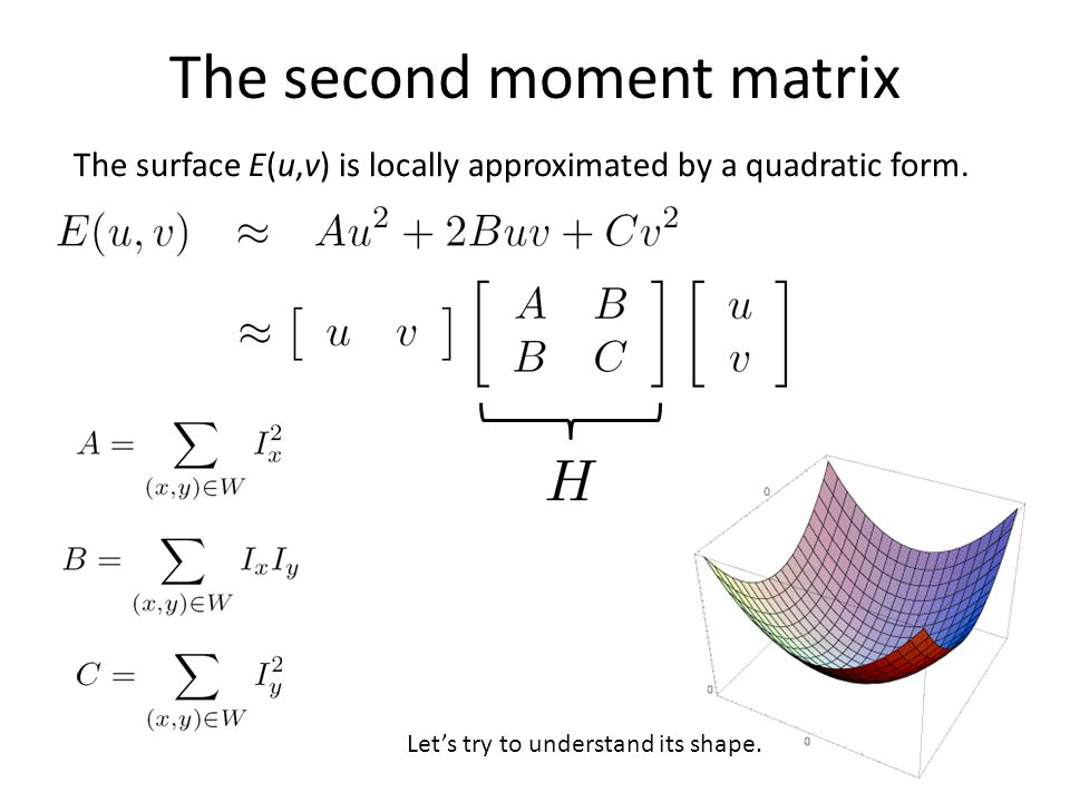 The second moment matrix