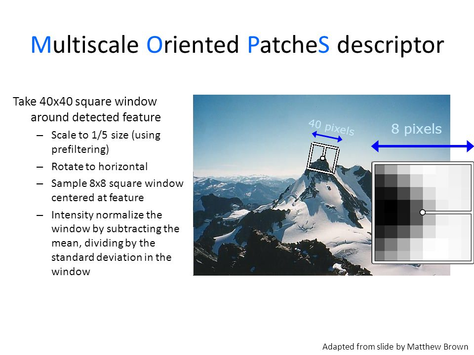 Multiscale Oriented PatcheS descriptor