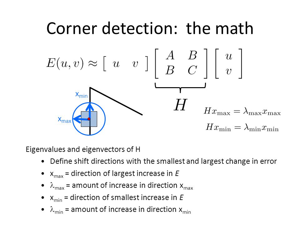 Corner detection: the math
