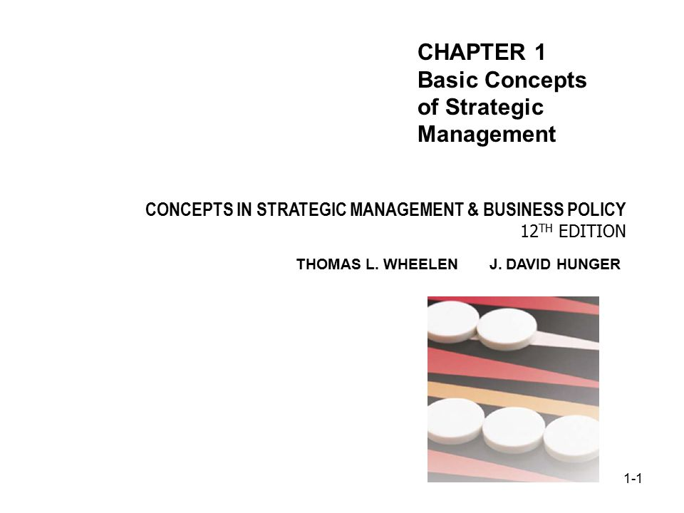 chapter 1 strategic management The strategic management process 5 industrial organizational (i/o) model of customers, labor, unions, management, top managers, suppliers, partners, equity.