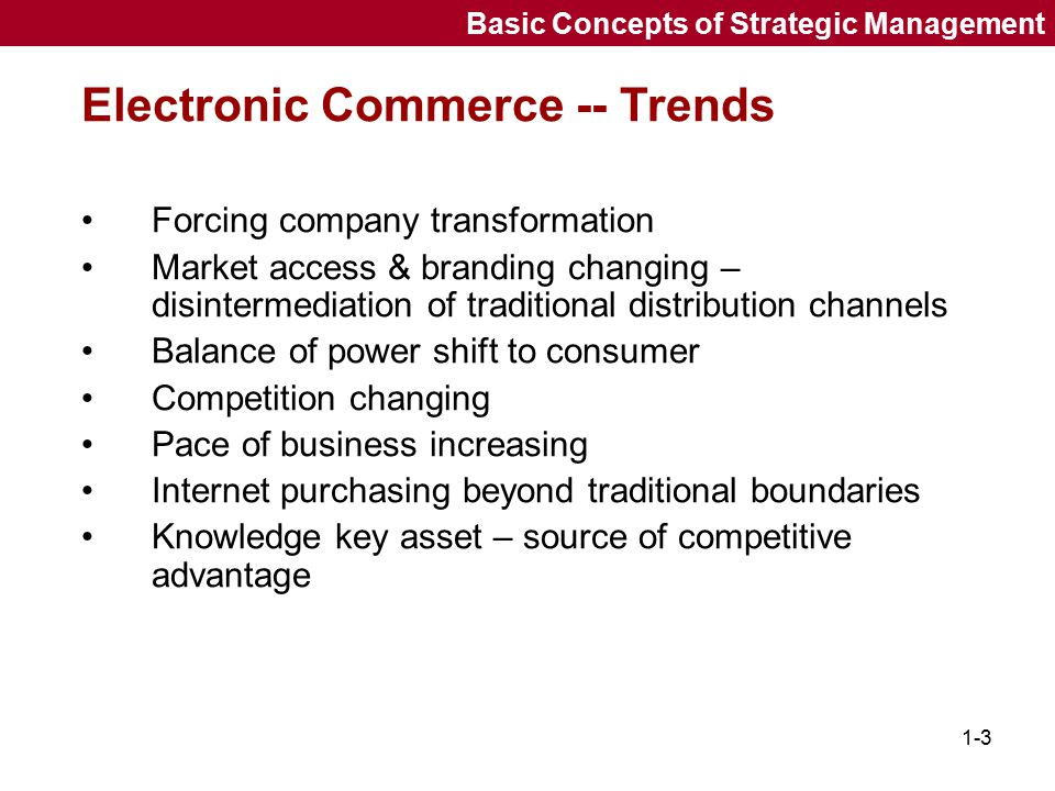 Electronic Commerce -- Trends