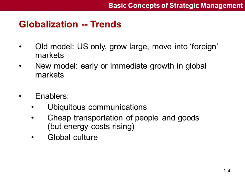 Globalization -- Trends