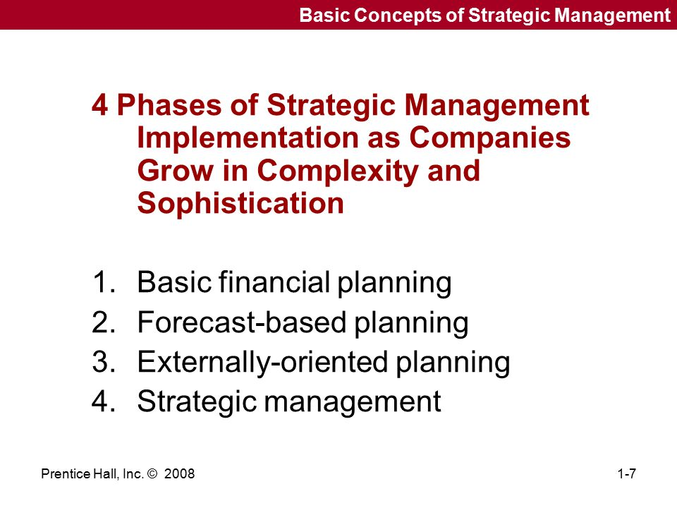 Basic financial planning Forecast-based planning