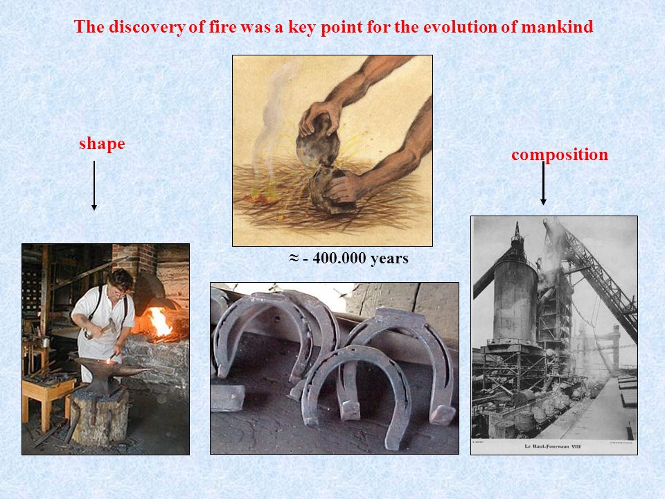 The discovery of fire was a key point for the evolution of mankind