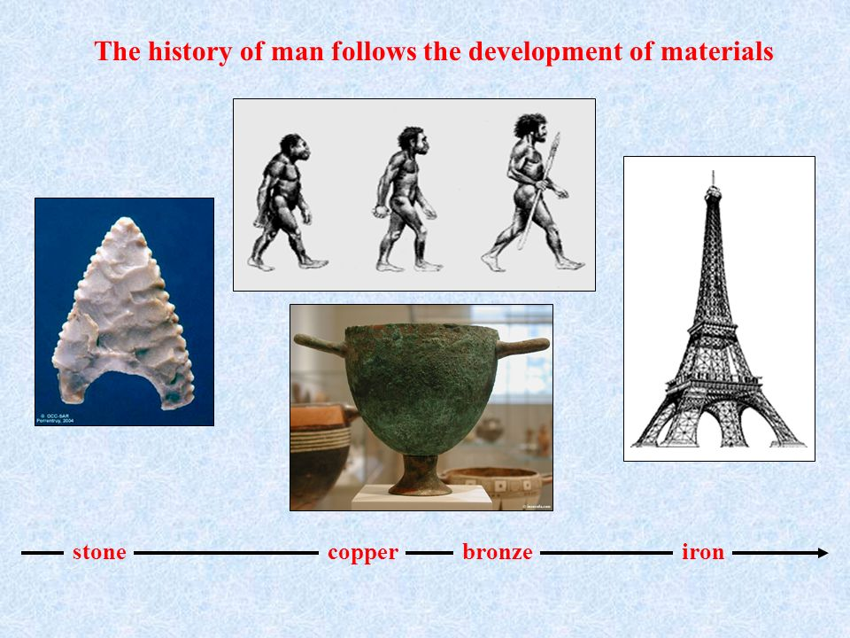 The history of man follows the development of materials