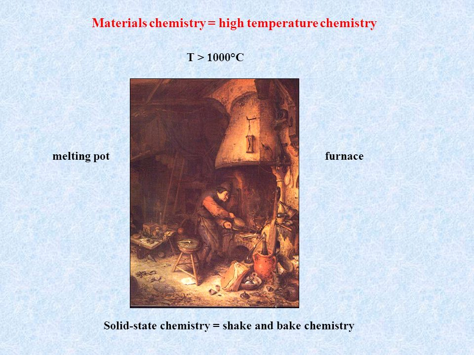 Materials chemistry = high temperature chemistry